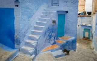 عکس زیبا از خانه های آبی حس آرامش