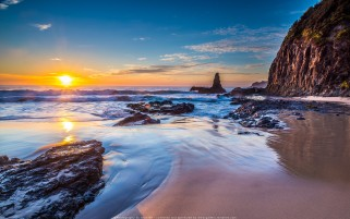 عکس طلوع خورشید ساحل جونز استرالیا