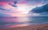 عکس غروب زیبای بنفش رنگ