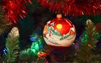 عکس گوی نقاشی شده کریسمس