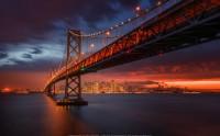 عکس غروب آتشین - سانفرانسیسکو