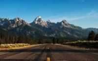 جاده، طبیعت گراند تتون، آمریکا