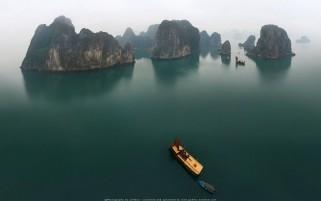 عکس زیبا از خلیج هالونگ در ویتنام