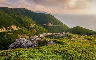 عکس کیفیت بالا ارتفاعات کیپ برتون کانادا