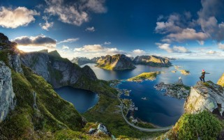 عکس کیفیت بالا و زبیا یک منظره از کشور نروژ