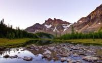 عکس زیبا منظره آلبرتا کانادا کوه از گالری عکس منظره