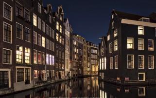 عکس شب زیبای آمستردام