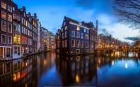 عکس شب آمستردام هلند