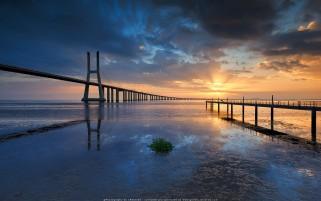 عکس زیبای غروب ساحل