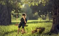 عکس تاب بازی دوران کودکی