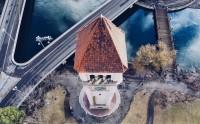 عکس برج قدیمی ساعت در واشنگتن