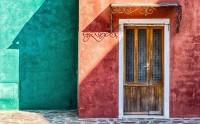 عکس زیبا از خانه رنگی