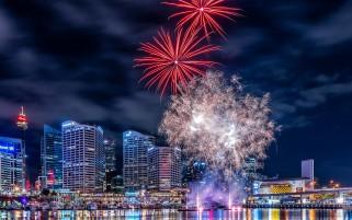 آتش بازی سال نو میلادی در سنگاپور