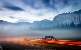 عکس حرفه ای از ثبت نور در مه