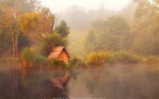 عکس زیبا صبح دل انگیز مه آلود