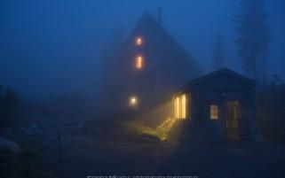 عکس شب زیبای مه آلود رمز آلود
