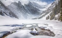 عکس زیبا دریاچه آگنس زمستان