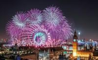 آتش بازی سال نو لندن انگلستان