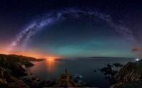 عکس شب پر ستاره رویایی جادویی بی نظیر