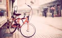 عکس دوچرخه دنده ای نارنجی