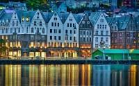 عکس HD شب برگن نروژ