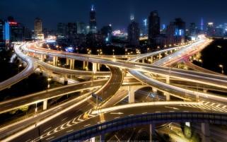 عکس از پل های چند طبقه چین