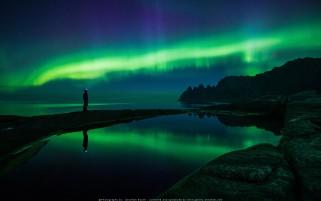 عکس نور شفق شمالی