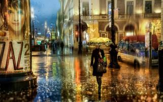 عکاسی امپرسیونیسم شب بارانی