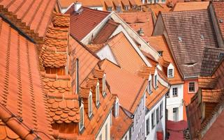 عکس بام های شیروانی نارنجی