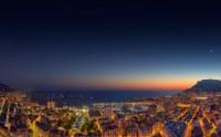 عکس زیبا از شب و غروب موناکو