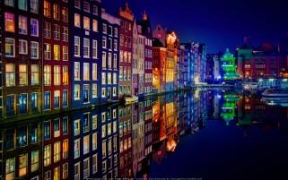 عکس شب رنگی امستردام هلند