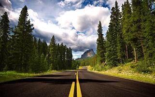 جاده ای بسوی کوههای قلعه