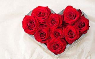 گل های رز به شکل قلب