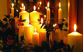 شمع های زیبای کریسمس