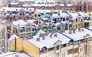بام های پوشیده از برف،اکراین