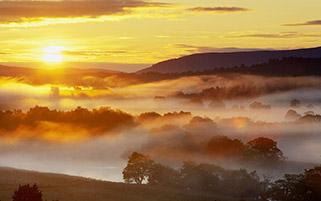 مه روی رودخانه اسپی،اسکاتلند