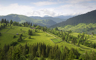 کوههای کارپات،رومانی