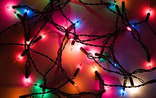 چراغ های شادی کریسمس