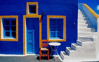 خانه آبی،یونان