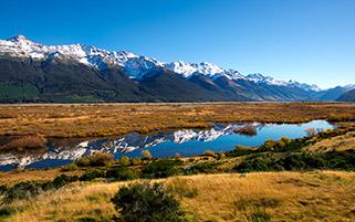 انعکاس یک روز زیبا، نیوزلند
