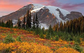 پاییز در بهشت،پارک ملی کوه رینیر