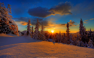 غروب زمستانی، پارک ملی کوه رینیر