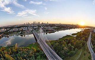 رودخانه ویستولا،ورشو،لهستان