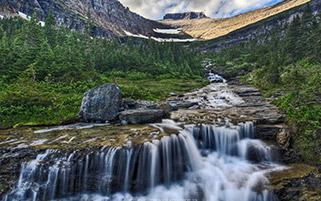 آبشار مونتانا، پارک ملی یخچال،مونتانا
