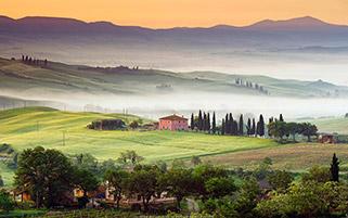 روستای ویلا،توسکانی،ایتالیا