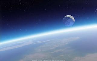 ماه بر فراز زمین