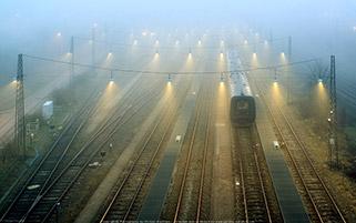 ایستگاه در مه