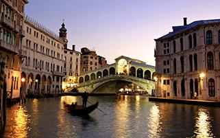 غروب دل انگیز،ونیز،ایتالیا